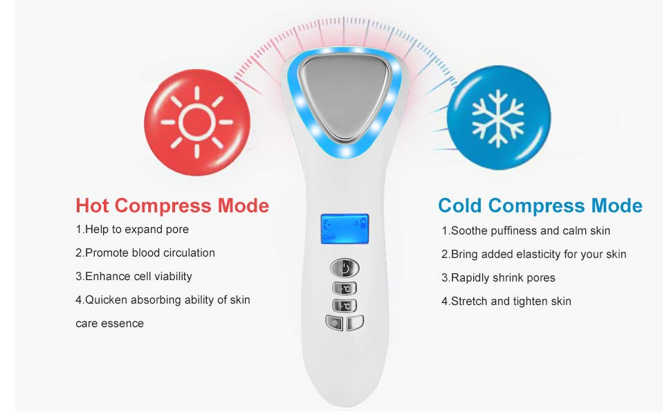 Hot & Cold Face massager,ion import & export face massager